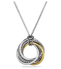 women's david yurman crossover small pendant with gold on chain