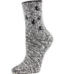 bejeweled for joy marl crew socks