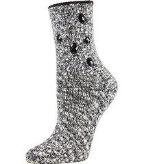 bejeweled for joy marl crew socks
