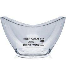 champanheira personalizada keep calm - incolor - dafiti