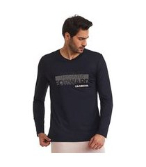 camiseta manga longa masculina move preta g