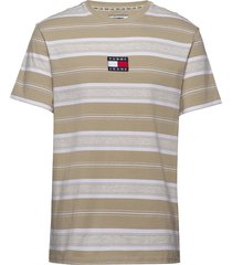 tjm stripe logo tee t-shirts short-sleeved multi/mönstrad tommy jeans