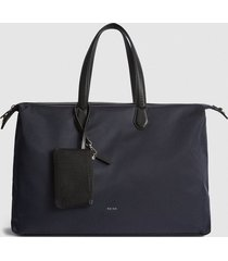 reiss jerome - nylon weekend bag in navy, mens