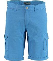bos bright blue berend worker short 19109be02sb/268 jeans blue - bos bright blue bermuda blauw 97% katoen / 3% elastaan - bos bright blue bermuda - -