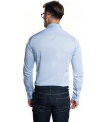 koszula bexley 2791 długi rękaw slim fit niebieski