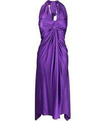 alexandre vauthier violet halterneck dress