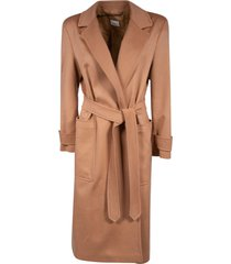burberry long length belted coat