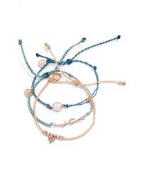 women's pura vida forest dawn 3-pack string bracelets