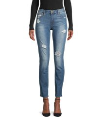 articles of society women's shannon destroyed cigarette jeans - corpus - size 28 (4-6)