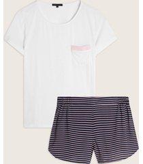 pijama conjunto manga corta y short estampado-l
