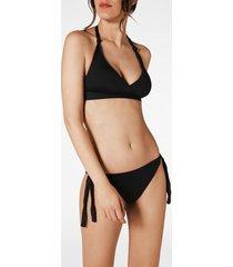 calzedonia indonesia long triangle bikini top woman black size 5