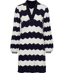 d1. zigzag knit dress knälång klänning svart gant