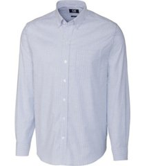 cutter & buck men's big & tall long sleeves stretch oxford stripe shirt
