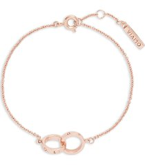 olivia burton the classics double ring chain bracelet in rose gold at nordstrom
