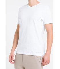 kit duas camisetas masculinas gola básicas branca calvin klein - s
