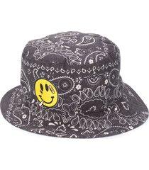 duoltd bandana-print bucket hat - black