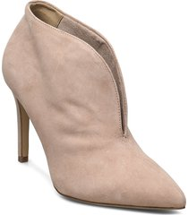 woms slip-on shoes boots ankle boots ankle boots with heel beige tamaris
