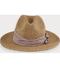 scotch & soda straw hat with scarf