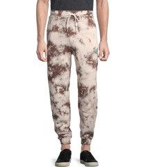 true religion men's tie-dyed jogger pants - black white - size l