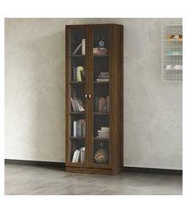 armário estante alto tecno mobili me4115 2 portas de vidro