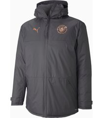 man city winter trainingsjack voor heren, grijs, maat 3xl | puma