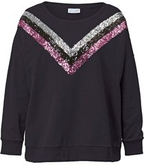sweatshirt med paljetter angel of style svart