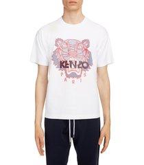 men's kenzo silicone scuba tiger t-shirt, size medium - white