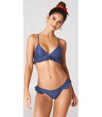 j&k swim x na-kd frill bikini briefs - blue,multicolor