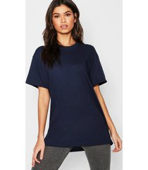 basic oversized boyfriend t-shirt, navy