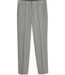 mens mid grey gray marl slim fit suit pants