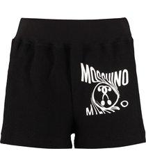 moschino stretch cotton shorts