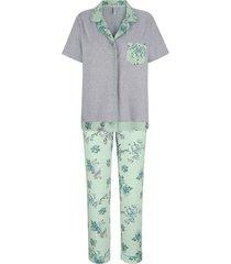 pyjama mona lindegroen::grijs::ecru