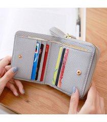 portamonete donna elegante nappa a portafoglio corto con portamonete borsa portamonete