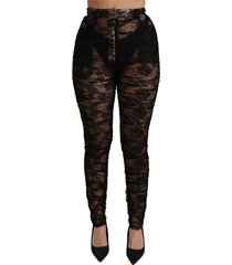 lace high waist skinny broek