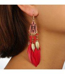 orecchini pendenti con piume di boemia orecchini pendenti con perle di natale