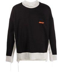 ambush panelled asymmetric sweatshirt