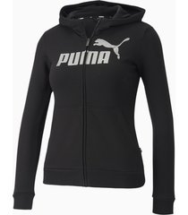 essentials+ sweaterjack met capuchon, zwart/aucun, maat 116 | puma