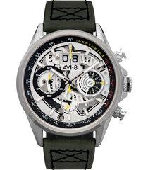 green and silver hawker harrier ii watch