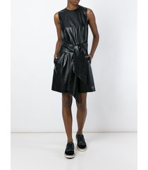 new women sexy genuine lambskin leather evening cocktail ladies party dress-06