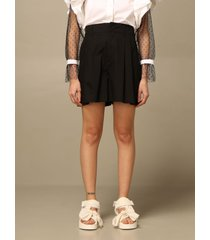 red valentino short red valentino poplin shorts