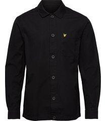 cotton ripstop overshirt overshirts zwart lyle & scott