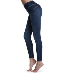 calzedonia - total shaper jeggings, s, blue, women