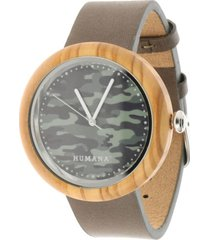 reloj militar verde humana