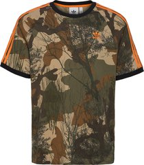 camo aop tee t-shirts short-sleeved grön adidas originals