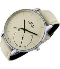 reloj beige montreal cuero