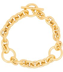 all blues triple-loop chain toggle bracelet - gold