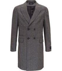 ermenegildo zegna herringbone double-breasted coat
