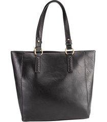 shopping bag stz com ilhós preto -