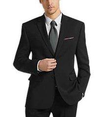 perry ellis premium black slim fit suit
