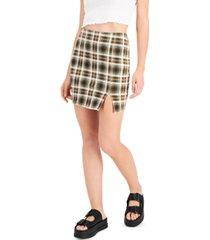 just polly juniors' plaid mini skirt